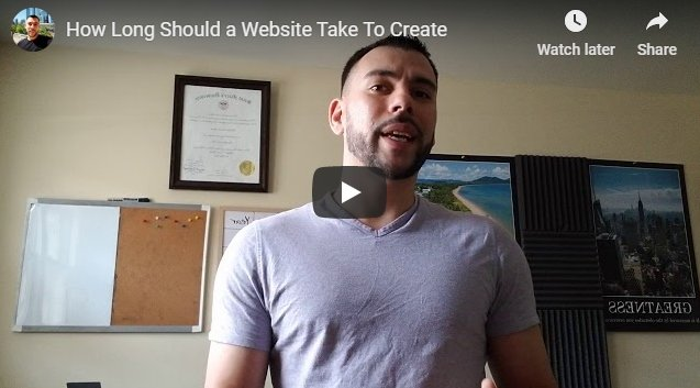 How Long Should It Take To Create A Small Business Website